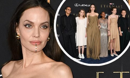 Angelina Jolie puts on an elegant display at Eternals film premiere