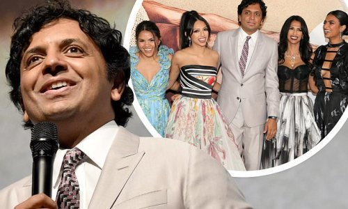 M. Night Shyamalan makes premiere of film Old a family affair in NYC