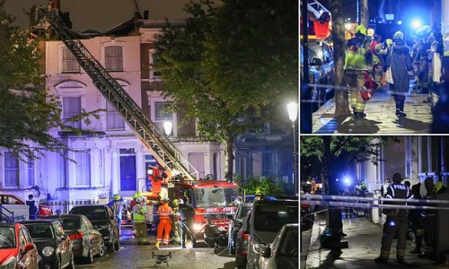 Firefighters rescue 13 people after roof collapsed in West London