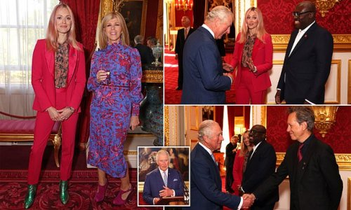 Prince Charles rubs shoulders with the stars at Prince's Trust Awards