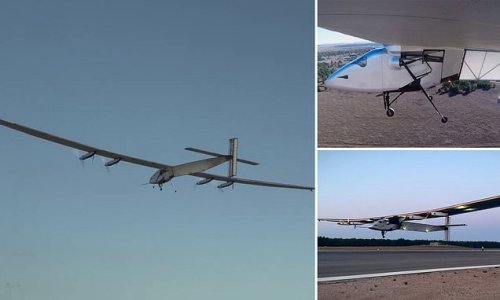 Navy's a pilotlesss solar-powered plane can fly for 90 days straight