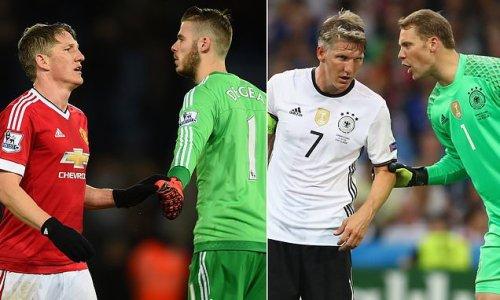 De Gea left 'angry' with Schweinsteiger after he said Neuer is better