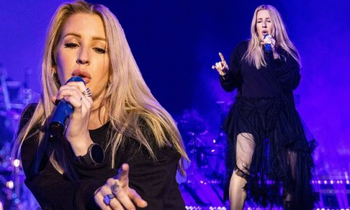 Ellie Goulding nails gothic chic at a gig in Bournemouth