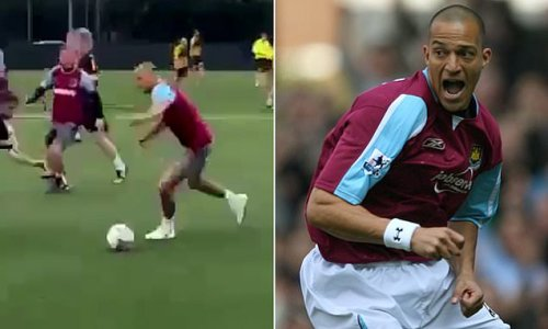 Bobby Zamora scores a sublime goal at a 7-a-side game in Colchester