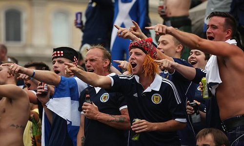 Ring of steel at Wembley as the Tartan Army march on London