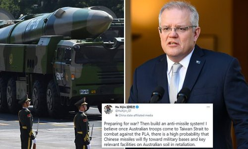 'Missiles will fly': New Chinese threat to bomb Australian soil