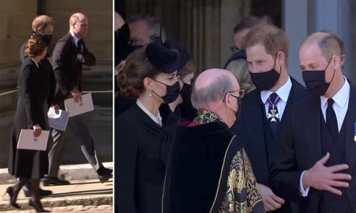 Prince Harry and Prince William reunited at Prince Philip's funeral