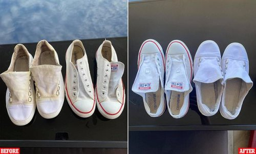 How to get sparkling white sneakers overnight