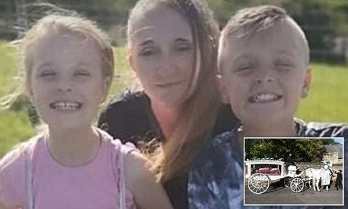Siblings aged 11 and 13, killed with mum, 35, and friend laid to rest