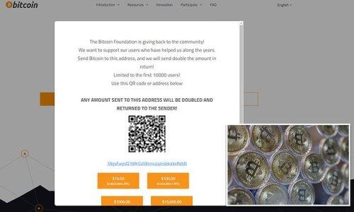 Top Bitcoin website hosts 'scam' promising to double visitors' money
