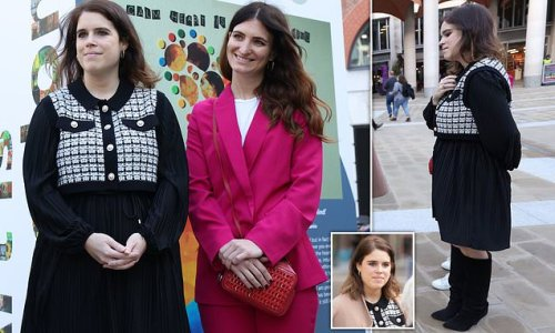 Princess Eugenie steps out for 'Art Is Freedom' exhibition