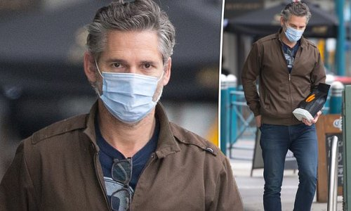 Eric Bana cuts a casual figure as he is spotted in Melbourne
