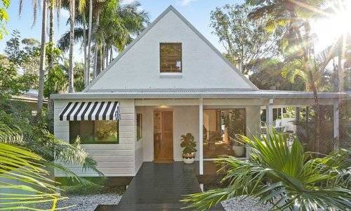 You'll never guess what lies behind the simple front of this house