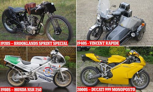 Classic motorbikes from every decade since 1920s go up for auction