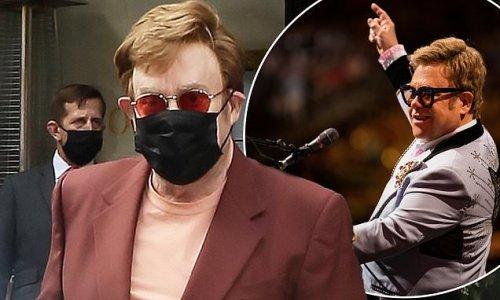 Elton John looks elegant after he announces his final tour