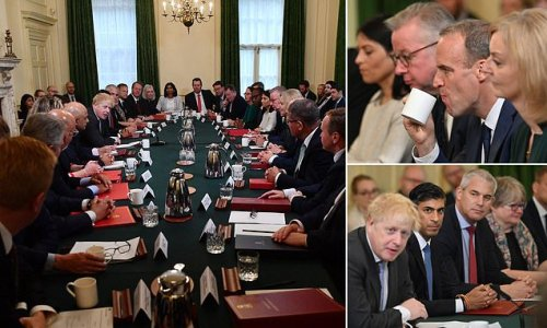 Boris Johnson welcomes new-look Cabinet to Downing Street