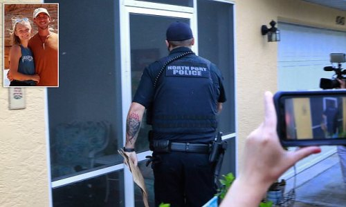 Four police officers arrive at home of Gabby Petit'os fiancé's home