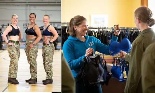 Female army recruits to get specially-designed bras for first time