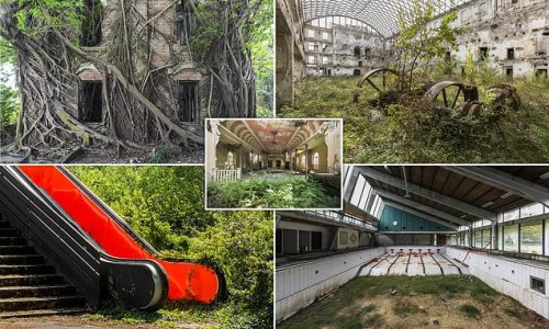 Abandoned buildings around the world now teeming with plant-life