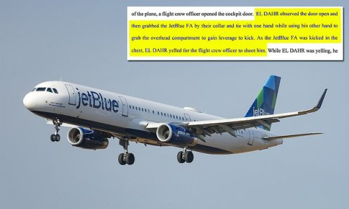 Man tries to storm cockpit on JetBlue flight and kicks and chokes crew