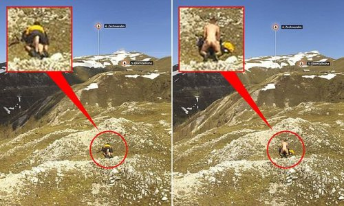 Not safe anywhere! Couple are caught having sex up Austrian mountain