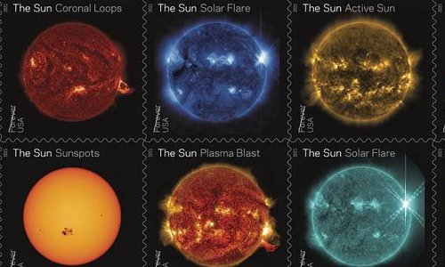 New stamps show stunning activity on the sun captured by NASA craft