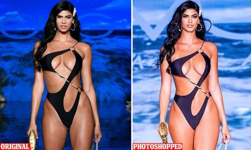 Lucciana Beynon is Photoshopped by a swimwear brand after runway debut