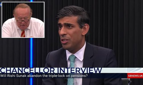 Rishi Sunak squirms as he's grilled by Andrew Neil about spending