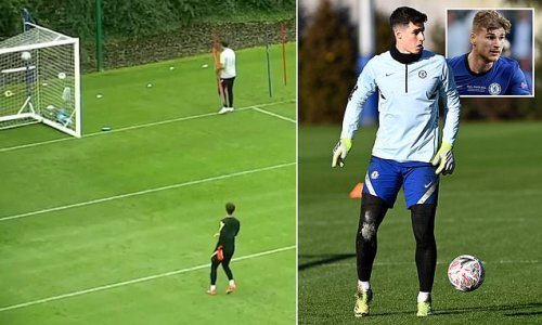 Chelsea fans blown away by Kepa after hitting crossbar EIGHT times