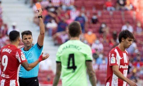Atletico Madrid 0-0 Athletic Bilbao: Joao Felix sent off in stalemate