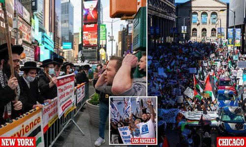 Rallies in support of Israel and Palestine held all over U.S