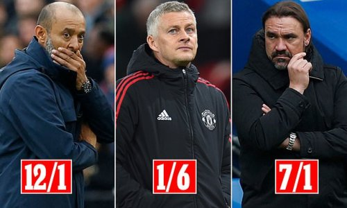 Solskjaer ODDS-ON to be the next Premier League manager to be sacked