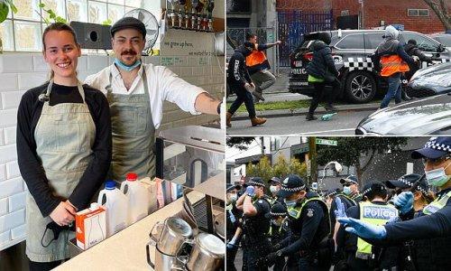 Melbourne cafe owner trolled after raising money for injured police