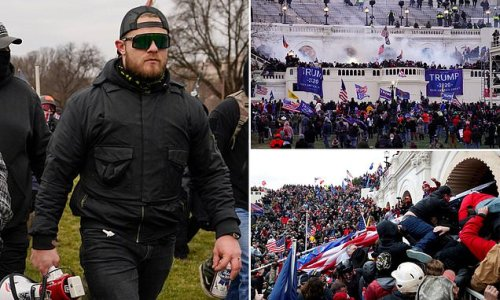 Proud Boy tries to avoid jail after other Capitol rioters were beaten