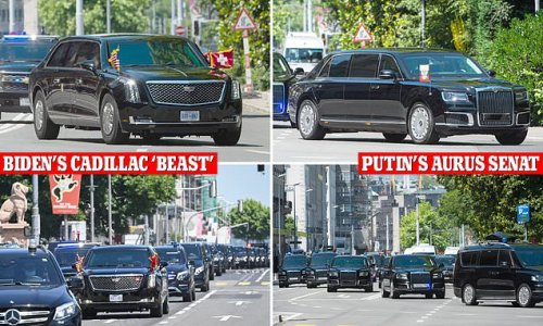 Biden's Beast squares up to Putin's Rolls Royce-lookalike