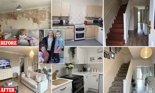 Single mother-of-two reveals incredible £218 makeover of rented home
