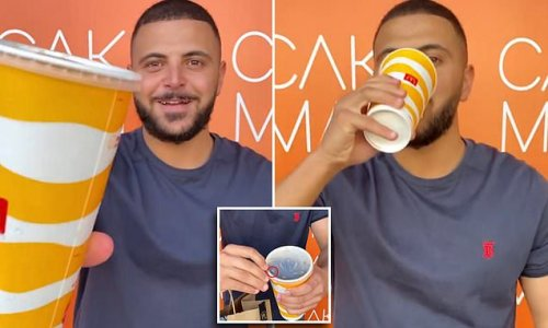 Baker shares trick to drink out of a McDonald's cup without a straw