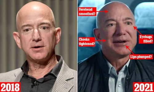 Jeff Bezos's plumped lips and super-smooth face spark facelift rumors