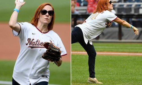 Jen Psaki throws first pitch at Nationals game, one day after shooting