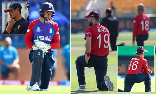 England take the knee before T20 World Cup game against Bangladesh