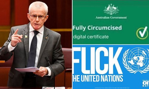 Australian senator's bizarre 'fully circumcised vaccine certificate'