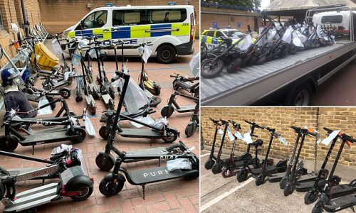 Police seize more than 100 e-scooters being ridden illegally in London