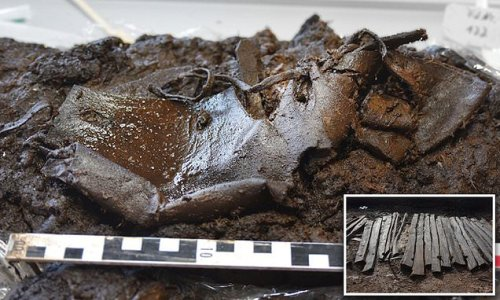 2,000-year-old leather shoe is found perfectly preserved in German bog