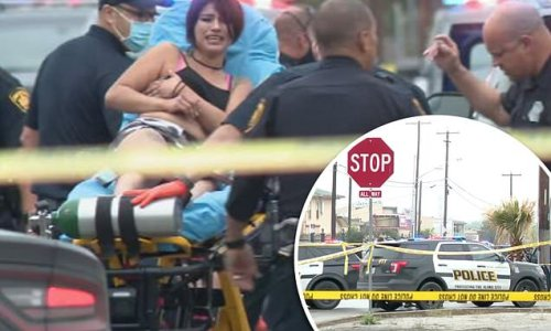 Two men are shot dead by cop after 'pulling gun during traffic stop'