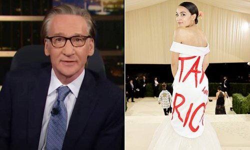 Maher criticizes AOC's 'Tax the Rich' dress she wore to the Met Gala