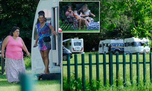 Travellers cannot be moved on from camp because they 'have Covid'
