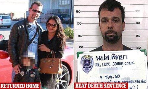 Aussie father who faced death in a Thai jail returns home