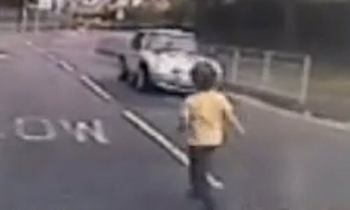 Alarming footage shows boy escaping nursery and running into road