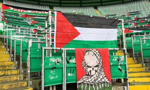 Celtic left furious at 'unacceptable' Palestine flag display by fans