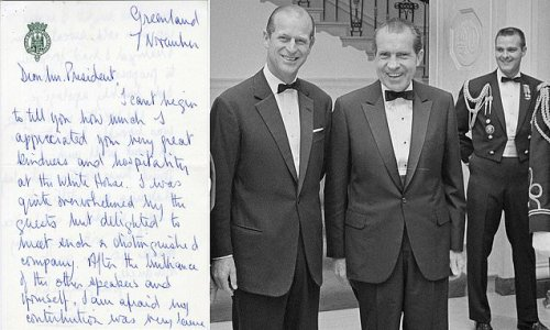 Prince Philip apologized to Nixon for 'lame' 1969 White House toast